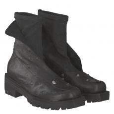 Papucei kurzer Glattleder-Stiefel in schwarz für Damen