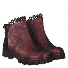 Papucei kurzer Nubukleder-Stiefel in rot für Damen