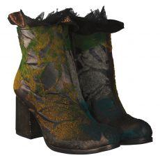 Papucei kurzer Glattleder-Stiefel in mehrfarbig für Damen