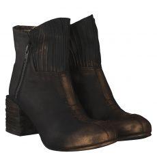 Papucei kurzer Veloursleder-Stiefel in schwarz für Damen