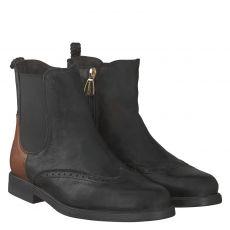La Martina kurzer Glattleder-Stiefel in schwarz für Damen