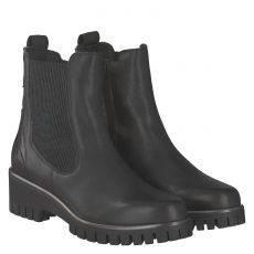 Donna Carolina kurzer Glattleder-Stiefel in schwarz für Damen