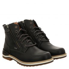 Fretzmen, Cooper, sportiver Glattleder-Stiefel in schwarz für Herren