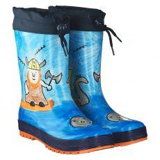 Maximo, Wikinger, Regenstiefel in blau für Jungen