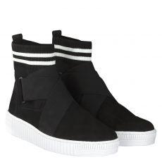 Gabor kurzer Veloursleder-Stiefel in schwarz für Damen