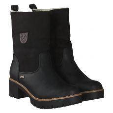 Rieker warmer Kunstleder-Stiefel in schwarz für Damen