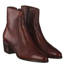 Maripé, Braun, kurzer Glattleder-Stiefel in cognac für Damen