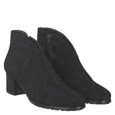 Hassia, Turin, kurzer Stretch-Stiefel in schwarz für Damen
