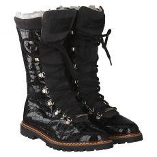 Ammann, Malix, warmer Lackleder-Stiefel in schwarz für Damen