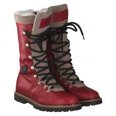 Ammann, Malix, warmer Glattleder-Stiefel in rot für Damen