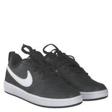 Nike, Court Borough Low, Kunstleder-Halbschuh in schwarz für Jungen