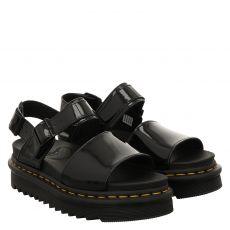 Dr.Martens, Voss Patent, Lackleder-Sandalette in schwarz für Damen