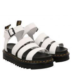 Dr.Martens, Blaire, Glattleder-Sandalette in weiß für Damen