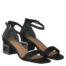 Guess Glattleder-Sandalette in schwarz für Damen