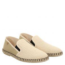 Verbenas, Tom, sportiver Textil-Slipper in beige für Herren