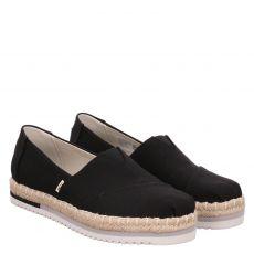 Toms, Platform Alpargata, Slipper in schwarz für Damen