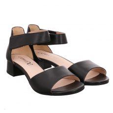 Caprice Glattleder-Sandalette in schwarz für Damen