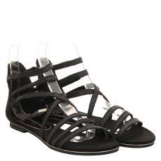 Marco Tozzi Kunstleder-Sandalette in schwarz für Damen