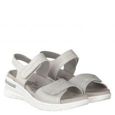 Van Der Laan, Coral, Nubukleder-Sandalette in grau für Damen