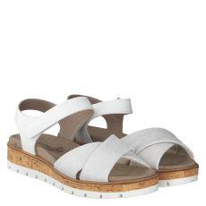 Van Der Laan, Mia, Nubukleder-Sandalette in grau für Damen