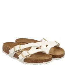 Birkenstock, Yao Balance[slipper], Kunstleder-Pantolette in weiß für Damen