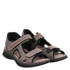 Rieker Kunstleder-Sandale in grau für Herren