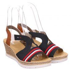 Rieker Kunstleder-Sandalette in blau für Damen