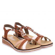 Rieker Kunstleder-Sandalette in braun für Damen
