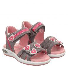 Superfit Veloursleder-Sandale in grau für Mädchen