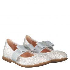Unisa Kunstleder-Ballerina in weiß für Mädchen