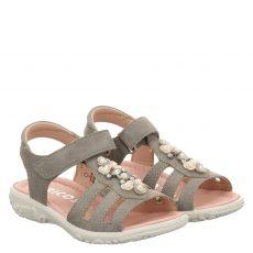 Ricosta, Cara, Nubukleder-Sandale in grau für Mädchen