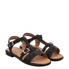 Ricosta, Bella, Kunstleder-Sandale in schwarz für Mädchen