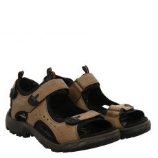 Ecco, Offroad, Fettleder-Sandale in braun für Herren