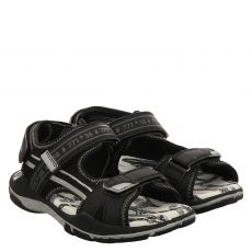 Richter Kunstleder-Sandale in schwarz für Jungen