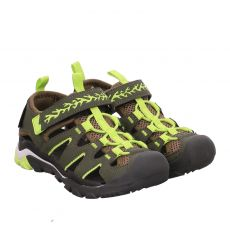 Dockers Kunstleder-Sandale in grün für Jungen