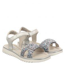 Richter Glattleder-Sandale in silber für Mädchen