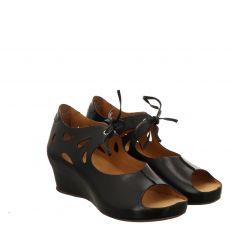 Fernando Strappa Glattleder-Sandalette in schwarz für Damen