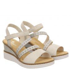 Rieker Kunstleder-Sandalette in beige für Damen