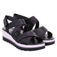 Gabor Glattleder-Sandalette in schwarz für Damen