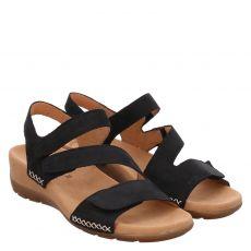 Gabor, Blau, Veloursleder-Sandalette in braun für Damen
