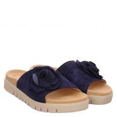 Gabor Nubukleder-Pantolette in blau für Damen