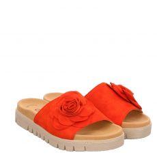 Gabor Nubukleder-Pantolette in rot für Damen