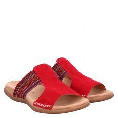 Gabor Veloursleder-Pantolette in rot für Damen