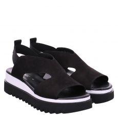 Gabor Veloursleder-Sandalette in schwarz für Damen