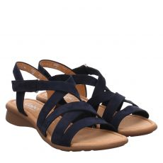 Gabor Lady Nubukleder-Sandalette in blau für Damen
