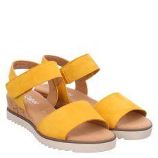 Gabor Lady Veloursleder-Sandalette in gelb für Damen