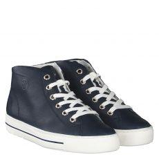 Paul Green, 4735, kurzer Glattleder-Stiefel in blau für Damen