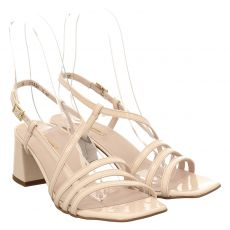 Paul Green, 7590, Lackleder-Sandalette in beige für Damen