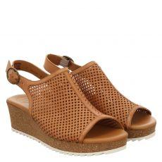 Paul Green, 7566, Glattleder-Sandalette in braun für Damen