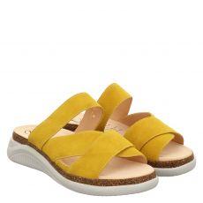 Ganter, Holly, Veloursleder-Pantolette in gelb für Damen